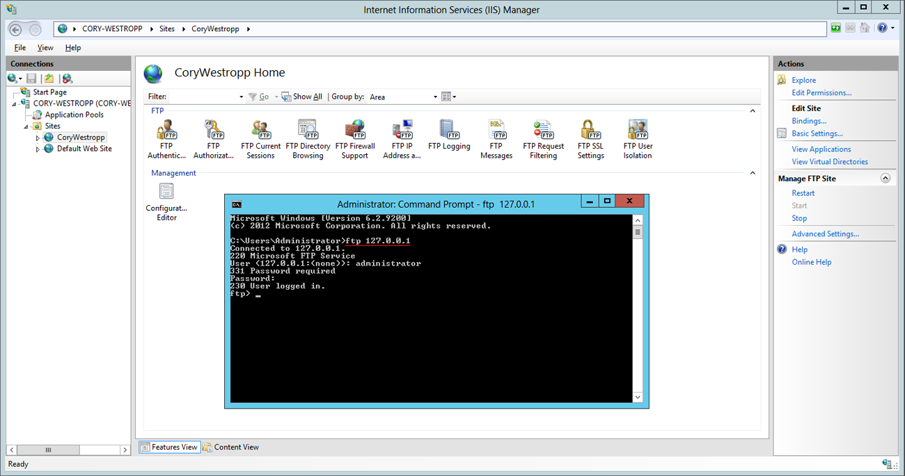 Setting up passive ftp with Windows Azure VM's - Cory Westropp
